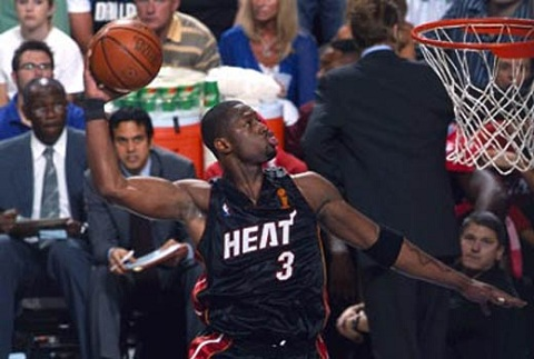 dwyane wade dunking on someone. Dwyane Wade Dunk: The Daily