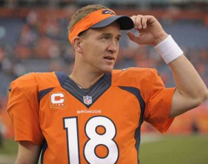 Peyton Manning to spend time on th e bench?